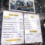 Lunch wagon menu