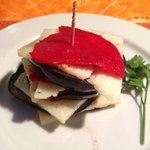 The signature melanzane with cheese starter
