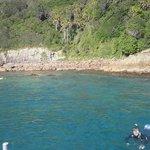 snorkelling near an island