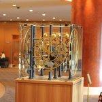 Elegant clock in the lobby