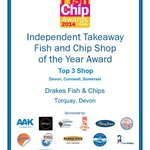 Regional Finalist for the National Fish & Chip Awards 2014