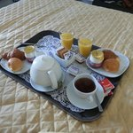 Breakfast delivered to the room at a time of your choice. Great.