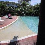 pool area next to restaurant