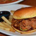 Pulled Pork, with french fries.
