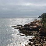 Fog clears, ocean view