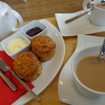 cream tea at on site cafe