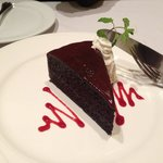 Divine chocolate cake.
