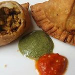 Samosa is Finger Linking good when dip when the spices sauce.
