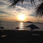 sunset on calis beach