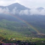 Spectacular view with rainbow