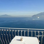 Vesuvius from restaurant balcony at breakfast time
