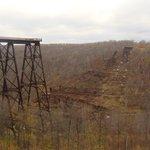 """Kinzua Skywalk and """"fallen old bridge"""""""