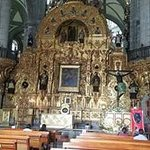 One of the altars inside the Metropolitan Cathedral in Mexico City