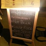 Chilled beer, Awesome food and by far the best service in town