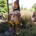One of the many scarecrows on display.