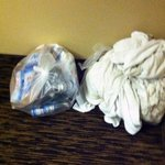 More trash and wet towels left in hallway for days
