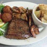 Shrimp and Steak Dinner
