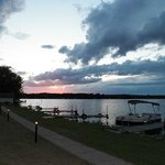beautiful sunset on Lake Holcombe, WI