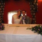 Laura & Tim signing register