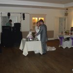 Cutting the cake in function room