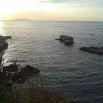 tramonto con Vesuvio