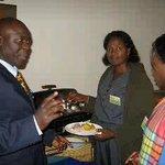 very helpful staff teaching us Swahili during Breakfast