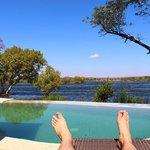 Pool overlooking Zambezi River
