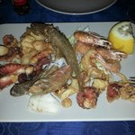 Frittura of seafood alla paranza