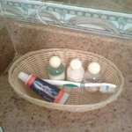 little essential provided daily beside the toothbrush and paste