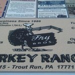 Turkey Ranch , place serving paper