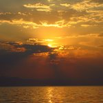 Sunset on Lake Malawi, Mumbo Island