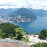 Blick vom Salvatore nach Lugano und zum Bre