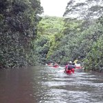 Entering Smaller Area of Wailua River
