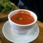 Tomato & Red Pepper Soup - really liked that you can have a small bowl as a side to any of their