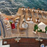 Pool and sundeck by the Aegean Sea