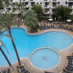 Pool area view from room 1531