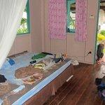 Hütte eng und schlechtes Bett