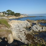 View back to Lover's Point from the coast path to Monterey