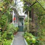 Entrance to garden area