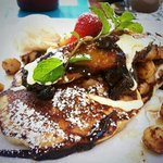 Heavenly pancakes at Aqua Bar & Grill Palm Cove
