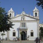 Facade of church facing square