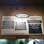 Order off the wall menu