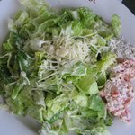 seafood Caesar salad at Lobster Pot, Provincetown, Mass.