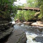 Foot bridge across Presque Isle River