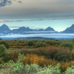 Tetons and clouds near Oxbow Bend