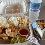 OMG garlic shrimp plate luch