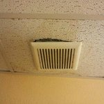 Exhaust fan falling out of the ceiling