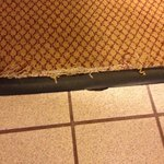 Frayed carpet - should be fixed now before it gets worse.