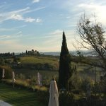 View of the Tuscan hills from our bedroom.