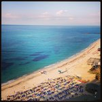 The beach at the Rocca Nettuno involves warm, sparkly blue water and powdery white sand. Heaven!
